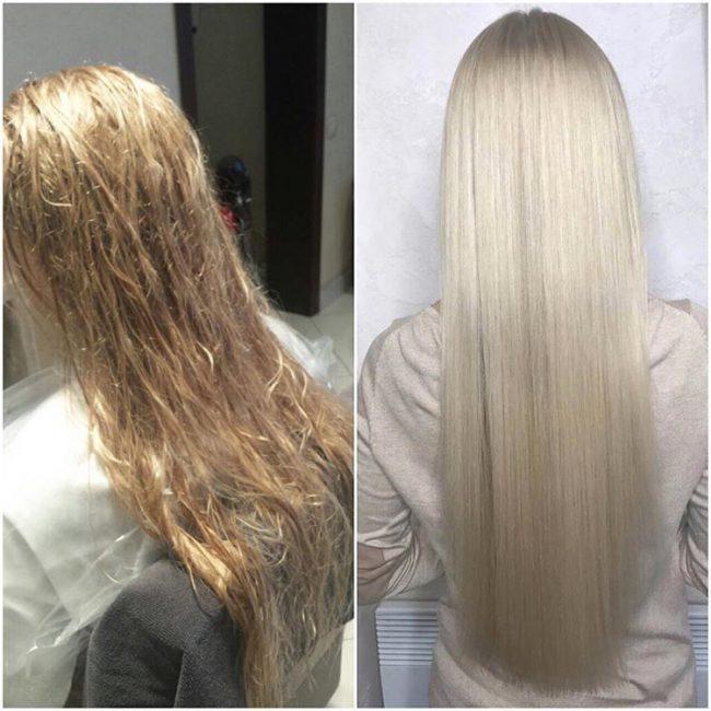 Ламинирование помогает в оздоровлении волос и улучшает внешний вид прически
