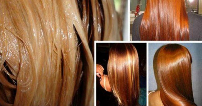 Салонное ламинирование закрепляет на волосах специальный состав