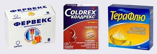 Популярные препараты для лечения простуды