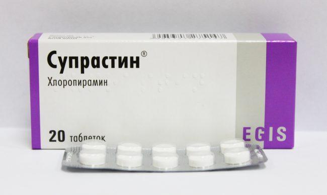 Для предупреждения аллергических реакций и воспалений, рекомендуется к употреблению антигистаминное средство – Супрастин