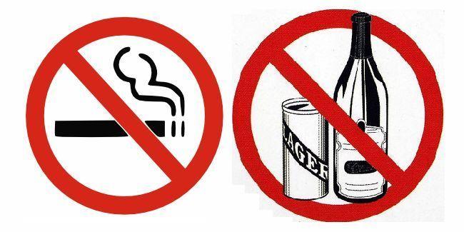 От курения и алкоголя нужно обязательно отказаться на все проведения чистки сосудов, а лучше и вовсе бросить эти вредные привычки