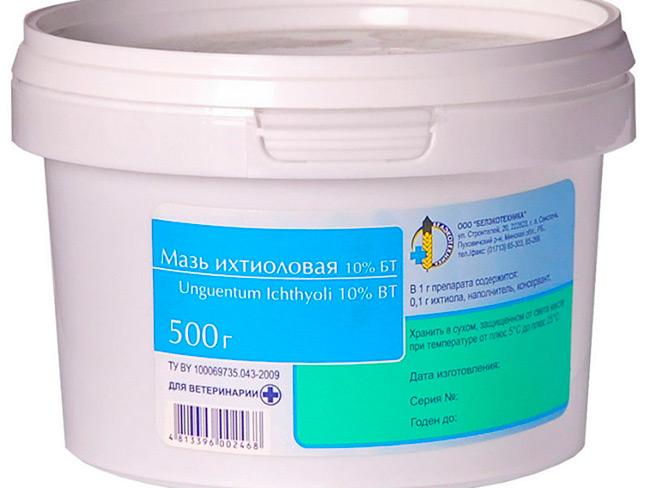 Состав лекарства, в который входят всего два компонента – ихтаммол, являющийся непосредственно активным лечащим веществом и вазелин, оказывается предельно эффективным