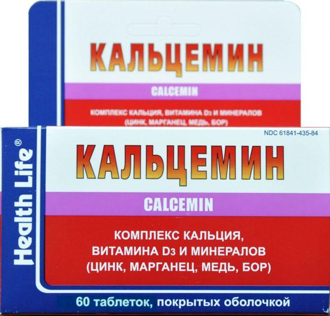 Кальцемин - препарат на основе кальция, предназначенный для лечения остеопороза различного генеза и терапии заболеваний заболеваний опорно-двигательного аппарата