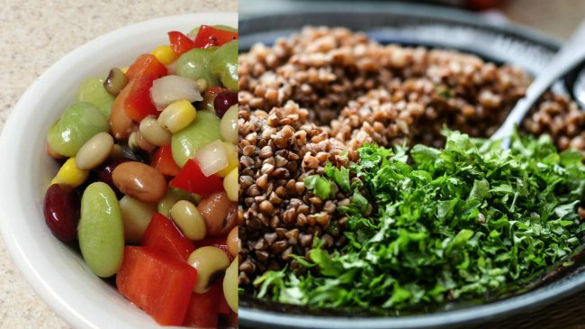 Для быстрого усвоения и похудения фасоль рекомендуется употреблять в виде салатов с зеленью