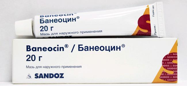 Банеоцин - комбинированное антибактериальное средство для наружного применения при воспалительных заболеваниях кожи