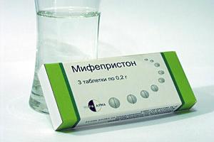 Таблетки mifepristone для прерывания беременности