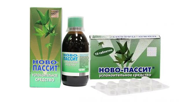 Новопассит выпускают в форме сиропа и таблеток