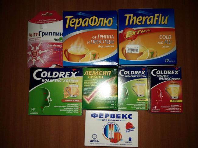 Выбор попрошка от простуды и гриппа надо делать исходя из состава препарата