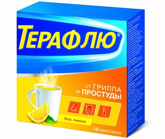 Терафлю – комплексное средство для лечения простудных заболеваний и гриппа. Обладает деконгестивным, обезболивающим, жаропонижающим и противоаллергическим эффектом