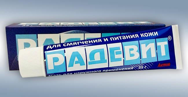 Мазь Радевит – препарат российского производства, обладает противовоспалительным и противозудным действием