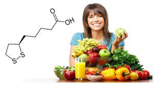 Альфа-липоевую кислоту организм может получать из определенных продуктов питания, либо из препаратов, которые ее содержат
