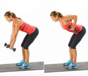 Особенностью этого упражнения является необходимость зафиксировать корпус так, чтобы не было вращения относительно оси позвоночника. Поэтому и не рекомендуется высоко поднимать локоть, что неизбежно приводит к скручиванию