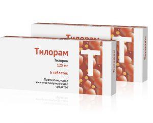Тилорон имеет то же активное вещество, что и Лавомакс и так же как и Лавомакс имеет те показания, противопоказания и побочные эффекты