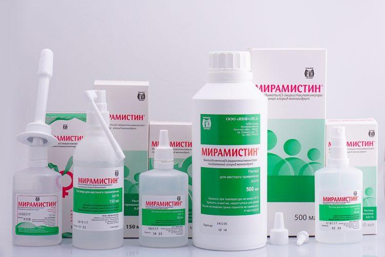 Виды форм выпуска препарата Мирамистин.