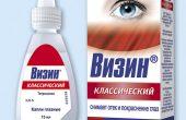 Глазные капли Визин классический – инструкция по применению при отеке и покраснении глаз, аналоги