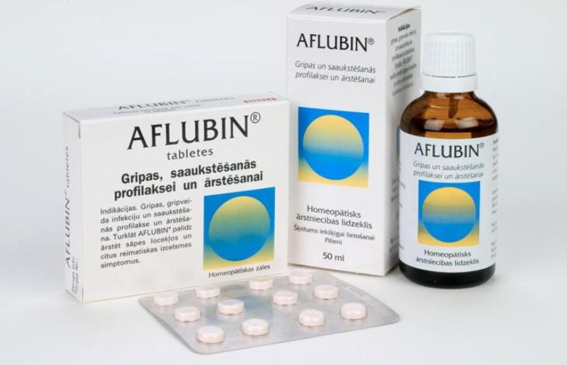 """Афлубин """"Aflubin"""" - в каплях и таблетках, натуральный гомеопатический препарат."""