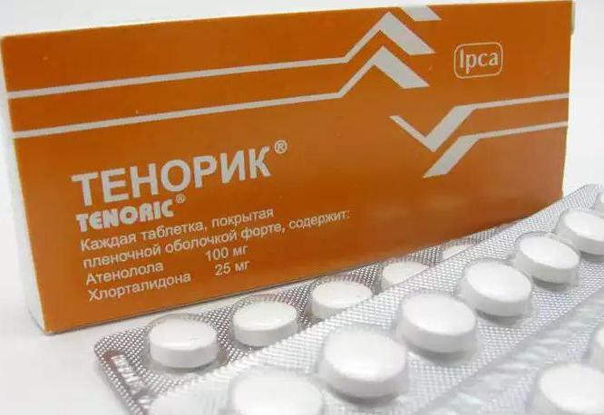Действие препарата Тенорик обусловлено двумя активными компонентами: атенололом и хлорталидоном, которые достигают наибольшей концентрации спустя 2-3 часа после приема таблеток.