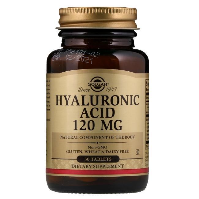Гиалуроновая кислота фирмы Solgar производится в США, в состав входит также витамин С