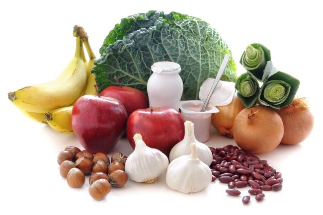 Пребиотики получают из продуктов питания, богатых клетчаткой