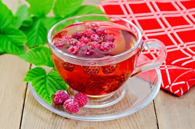 Малиновый чай - природное жаропонижающее средство