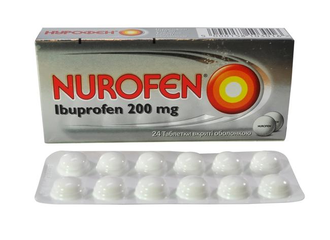 Нурофен снимает воспаление и купирует боль при тромбозе сосудов ног