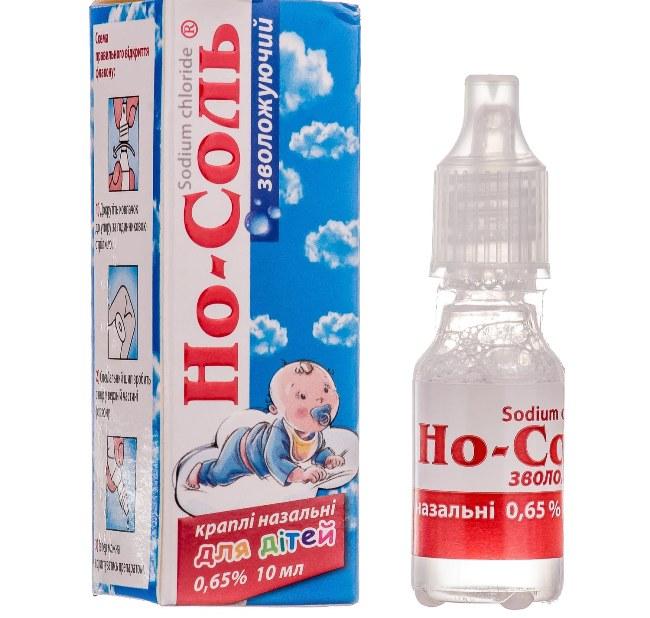 Но-соль - капли на основе натрия хлорида, применяются для лечения воспалительных заболеваний носовой полости