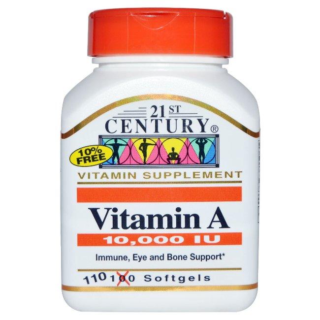 21stCentury Витамин A - пищевая добавка, содержащая в своем составе витамин А, производится в США