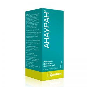 Капли Анауран применяются для лечения инфекционных заболеваний ушей