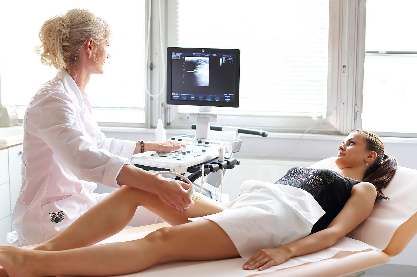 Проведение ультразвукового исследования вен нижних конечностей