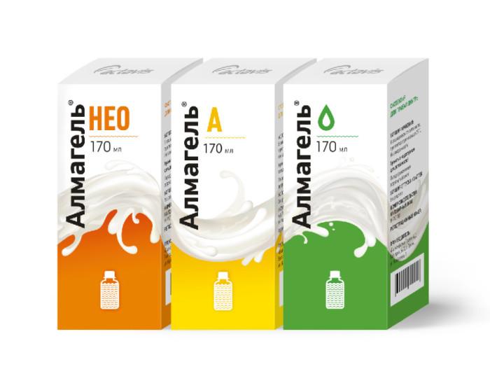 На этот момент в аптеках предоставлено 3 разновидности препарата Алмагель, что очень удобно для пользователей