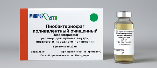 Лечение Пиобактериофагом гнойно-воспалительных заболеваний с локализованными поражениями рекомендуют проводить как местно, так и приемом препарата внутрь