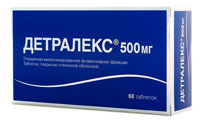 Таблетки Детралекс одно из наиболее действенных средств для предотвращения необратимых осложнений при венозной недостаточности