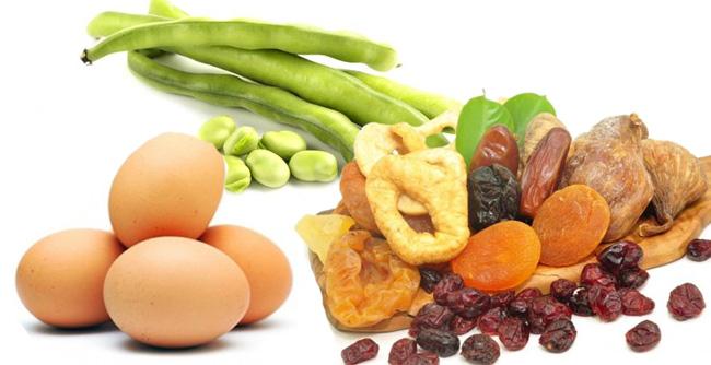 Употребление продуктов богатых железом, поможет поднять уровень гематокрита