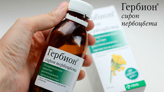 По фармакологическому действию лекарство делится на две группы – сироп Гербион от сухого кашля с экстрактом подорожника и Гербион сироп плюща от влажного кашля с первоцветом