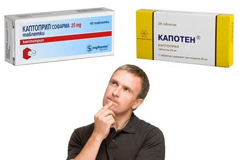 Препараты Каптоприл и Капотен являются аналогами по своему действующему веществу