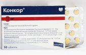 Конкор® Кор® 2,5, Конкор® 5 и 10 мг – инструкция по применению таблеток, состав, показания и аналоги