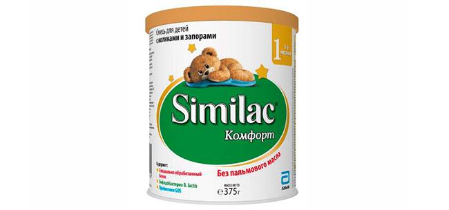 Детская смесь Similac Комфорт специально разработана для детей с коликами, запорами и повышенным газообразованием
