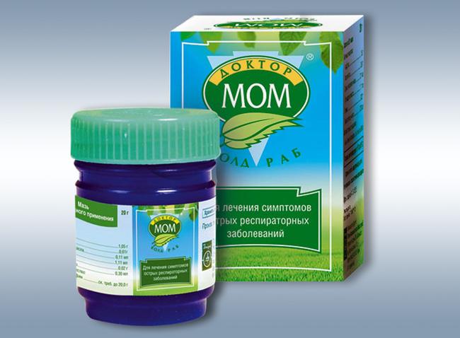 Мазь Доктор Мом - помогает бережно справиться с насморком, заложенностью носа и другими симптомами простуды и гриппа. Подходит для комплексного лечения