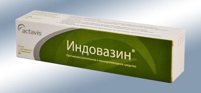 Индовазин гель – комбинированное лекарственное средство местного действия, для наружного применения