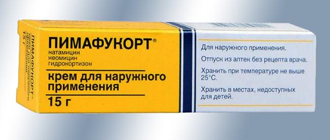 Мазь Пимафукорт - комбинированный препарат, оказывающий антибактериальное, противогрибковое, местное противовоспалительное действие