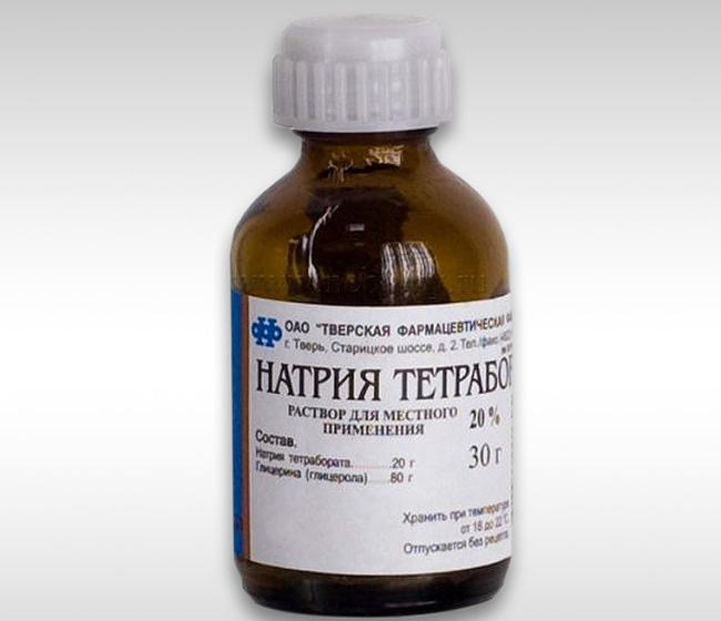Натрия тетраборат – это средство с антисептическим и бактериостатическим действием, производное борной кислоты