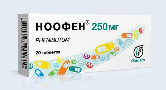 Ноофен - обладает транквилизирующими свойствами, стимулирует память и обучаемость, повышает физическую работоспособность