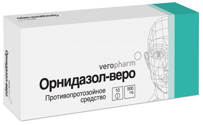 Механизм действия препарата основан на способности нитрогруппы молекулы орнидазола восстанавливаться под влиянием ферментов микроорганизмов