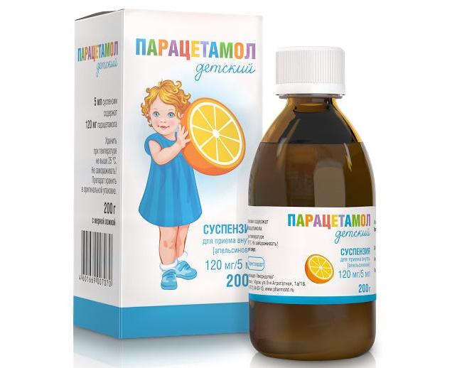 Лекарственная форма предназначена для внутреннего применения. В 5 мл суспензии Парацетамола содержится 120 мг активного вещества. Лекарство расфасовывают во флаконы и бутылки объемом 100 мл