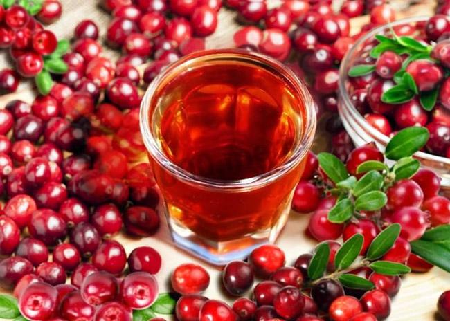 Клюквенный чай способствует укреплению иммунитета