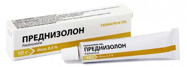 Мазь Преднизолон применяют в комплексной терапии воспалительных и аллергических заболеваниях кожи немикробной этиологии