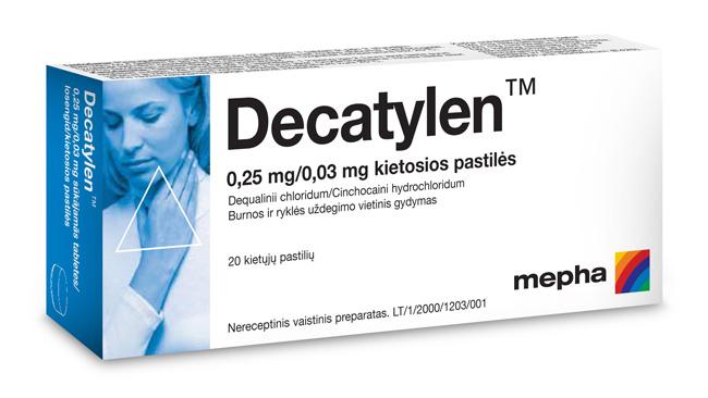 Декатилен – используется для лечения заболеваний ЛОР органов микробной природы