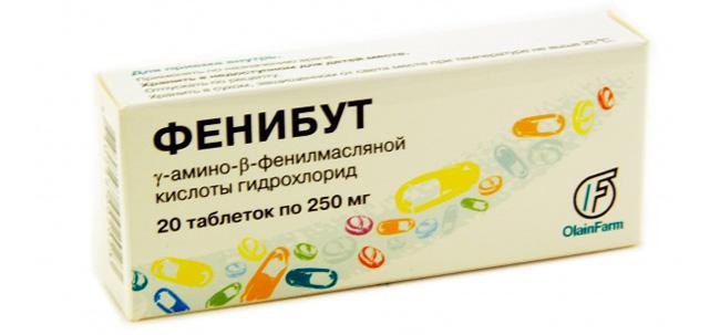Фенибут обладает транквилизируюшей активностью без противосудорожного и расслабляющего мышцы компонента