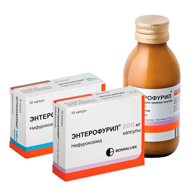 Ротавирус способен существенно снижать иммунную способность пищеварительного тракта, на фоне этого возникает вероятность развития патогенной микрофлоры ЖКТ, чтобы избежать таких последствий рекомендуется прием противомикробного препарата Энтерофурил