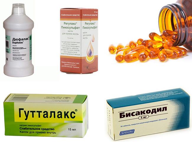 Слабительные раздражающего действия, эффект от приема препаратов наступает через 6-10 часов после приема